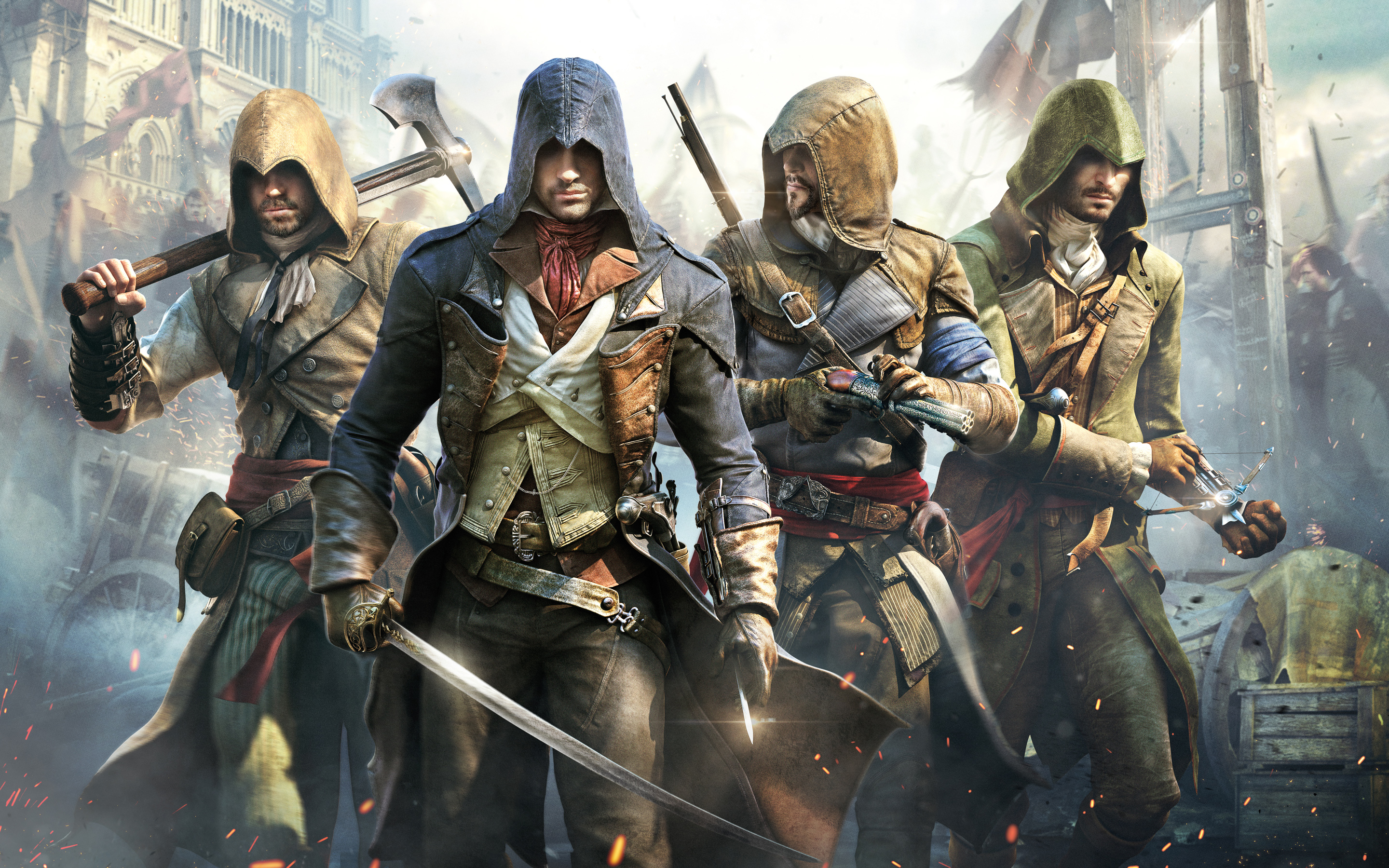Ubisoftsteam assassins creed unity arno and gang 2014 ubisoft voltagebd Image collections