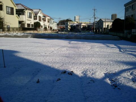 h26,2初雪朝散歩