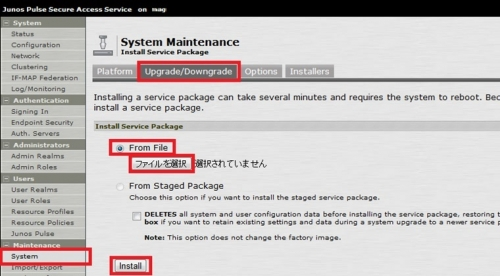 JuniperNetworks-SecureAccess-MAG-バージョンアップ手順6