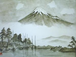 田子ノ浦からみた初秋の富士