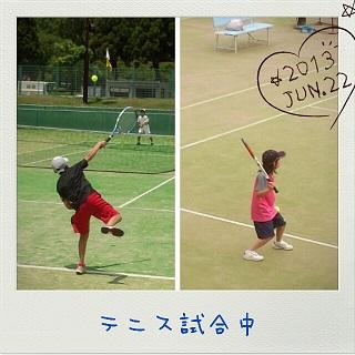 テニス試合中
