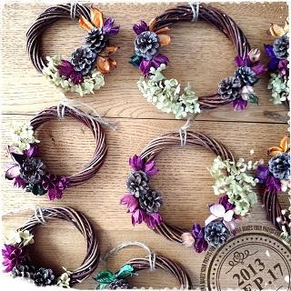 紫陽花リースー1