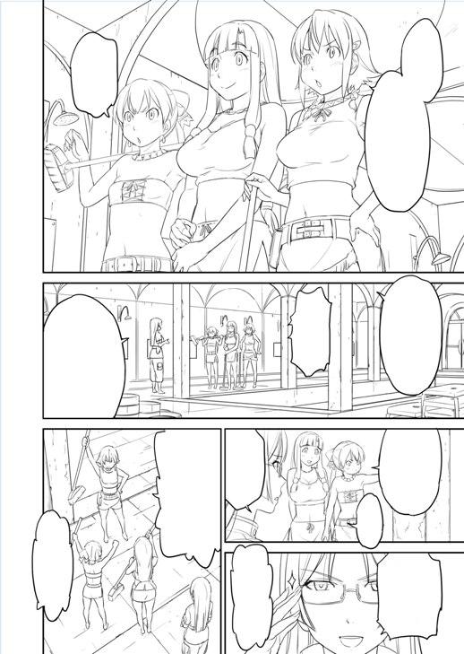 鳴子ハナハル描き下ろしコミック線画_先行公開(1)