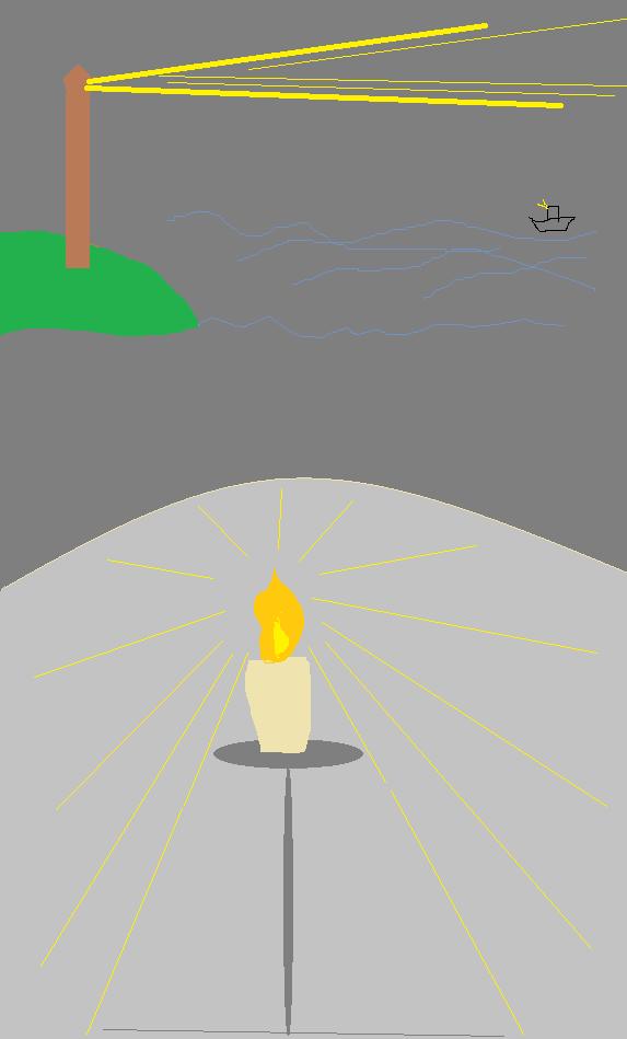 灯台下暗し は