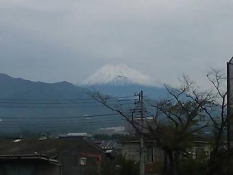 富士山初冠雪2013