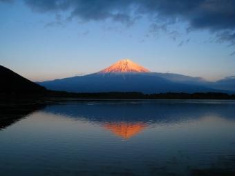 田貫湖の逆さ富士01