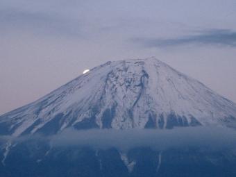 田貫湖のパール富士