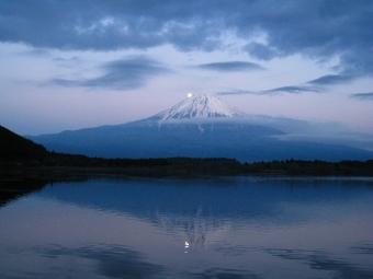 田貫湖の逆さパール富士