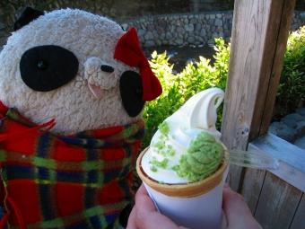 わさびソフトクリーム
