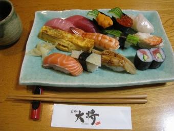 大将で寿司