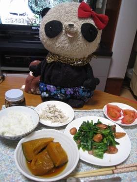 野菜づくしな夕食