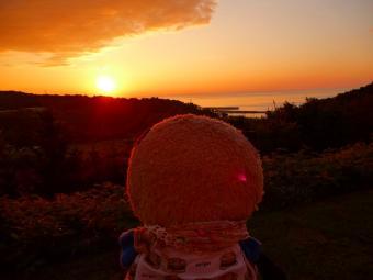 おばぶとオホーツクの夕日