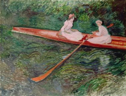 バラ色のボート