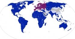 ヨーロッパの植民地だった国を全部塗りつぶすと世界地図はこうなる