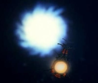 白色彗星帝国に波動砲を撃ち込むヤマト!