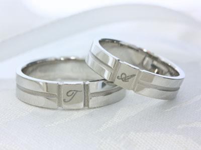 結婚指輪☆イニシャル