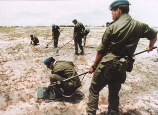 地雷・不発弾等の除去作業