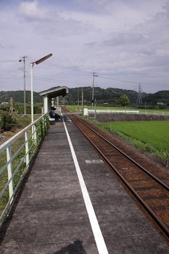 常葉大学前駅ホーム掛川方面