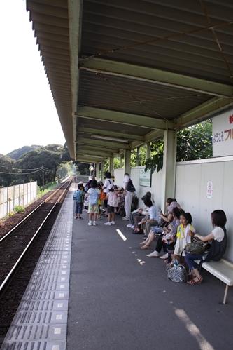 フルーツパーク駅ホーム新所原方面