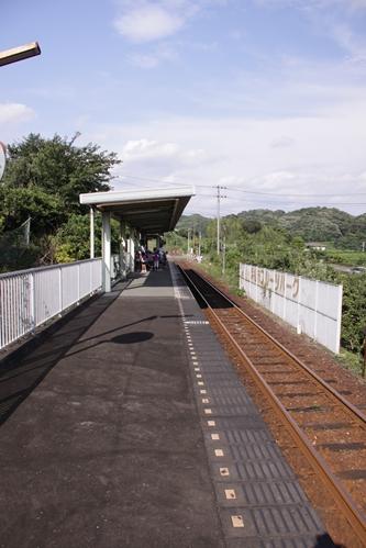 フルーツパーク駅ホーム掛川方面