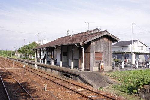 宮口駅駅舎側ホーム