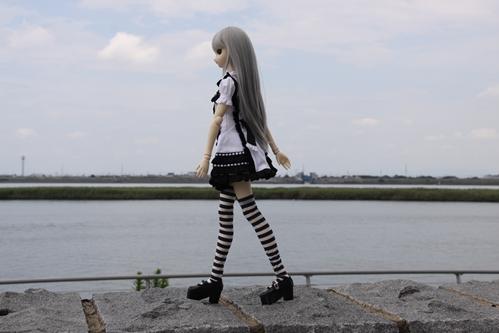 揖斐川を背景に歩いてみるその1