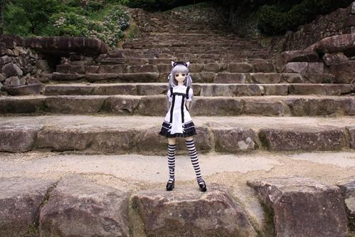 階段で その1