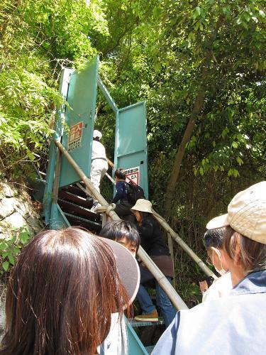 愛岐トンネル群 第11回特別公開・入口階段
