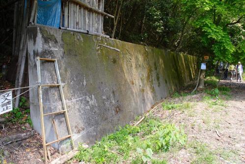 愛岐トンネル群 第11回特別公開・4号-5号トンネル間の擁壁
