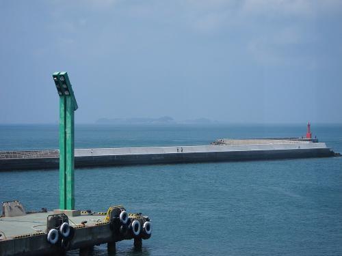 国道一号+渥美半島・伊良湖港から望む篠島