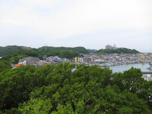 知多半島一周・羽豆岬展望台からの師崎地区