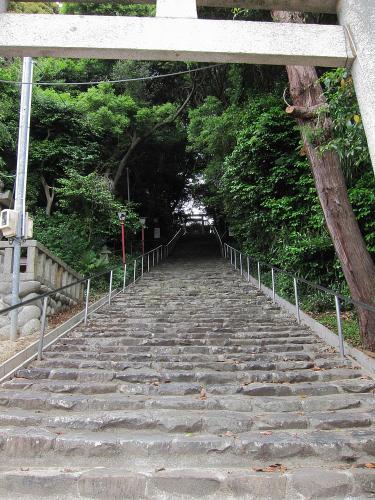 知多半島一周・日長神社の階段