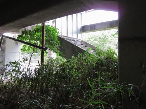 名鉄知多新線・小野浦駅の名古屋方面側階段