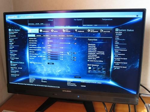 新メインPC・BIOS画面