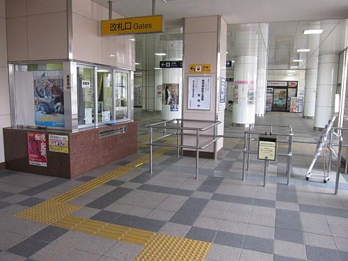 名鉄蒲郡駅改札口
