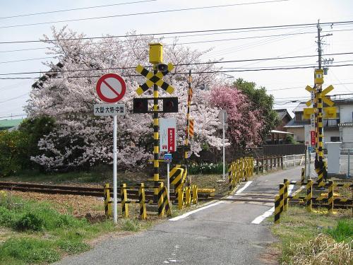 名鉄三河鹿島駅東側踏切