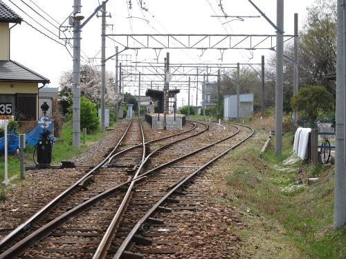名鉄西浦駅全景