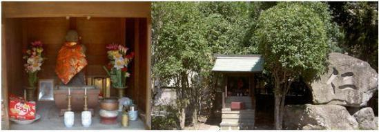 筑紫野市湯町の二日市温泉の済生会病院旧館の水子供養祠