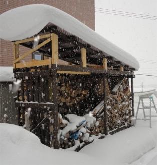 201401 薪小屋の積雪