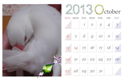 カレンダー:2013.10