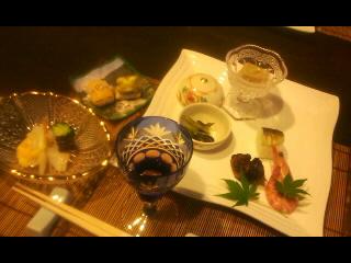 ワイン、前菜、白バ貝黄味酢掛け