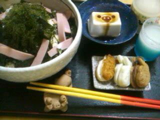 高級海ぶどうと安物ハムのコラボ丼