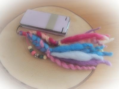 WOOL三つ編みストラップ ピンク系 (400x300)