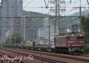 4071レ(EF81-627牽引):コンテナ0