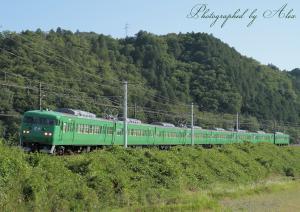 9332M(=117系緑色、金光臨)