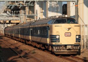 回9506M(=583系秋田車6両):シール式HM付