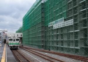 木古内駅にて
