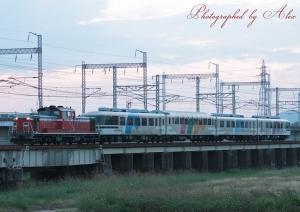 配9974レ(DD51-1183+あすか(4両))