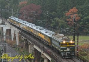 9516レ(EF81-113+サロンカーなにわ(7両))