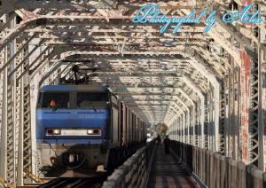 赤川橋梁にて